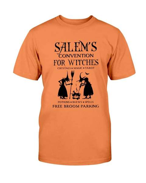 halloween salems convention for witches free broom parking shirt 1
