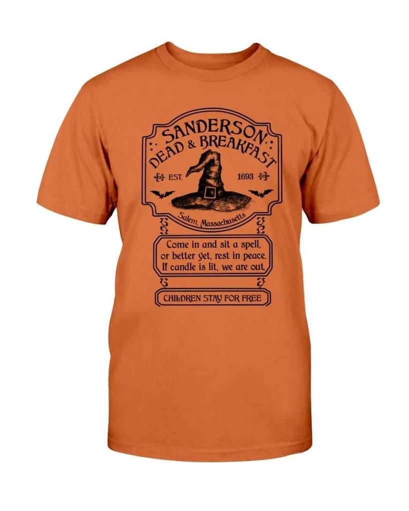 halloween sanderson dead and breakfast witch hat tshirt