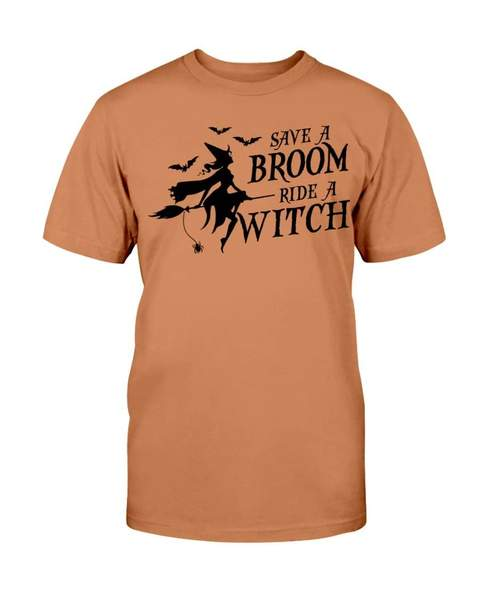 halloween save a broom ride a witch tshirt