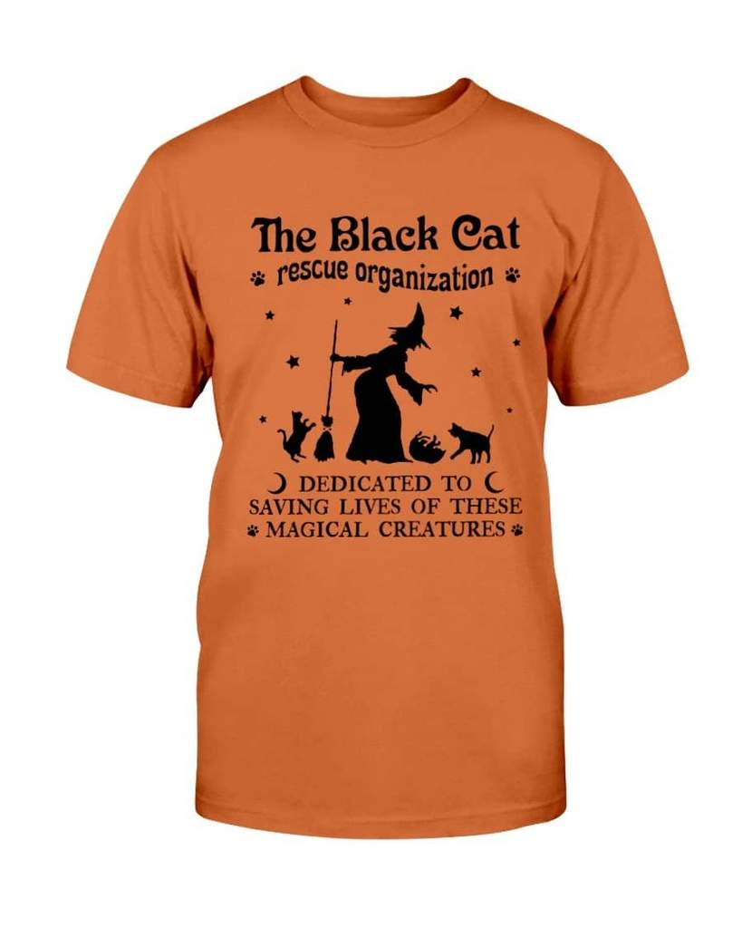 halloween the black cat resque organization dedicated tshirt