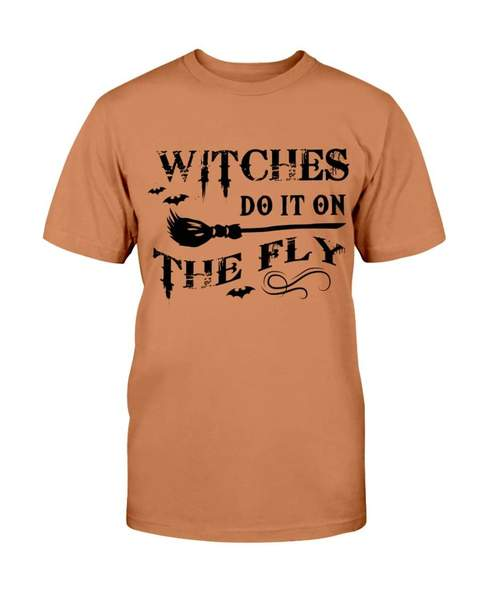 halloween witches do it on the fly tshirt - Copy