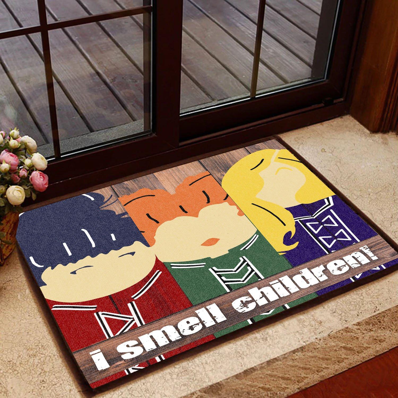 hocus pocus chibi i smell children halloween doormat 2