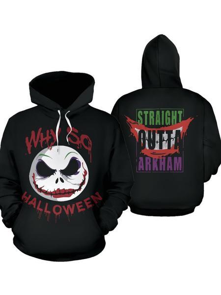 jack skellington why so halloween all over printed hoodie