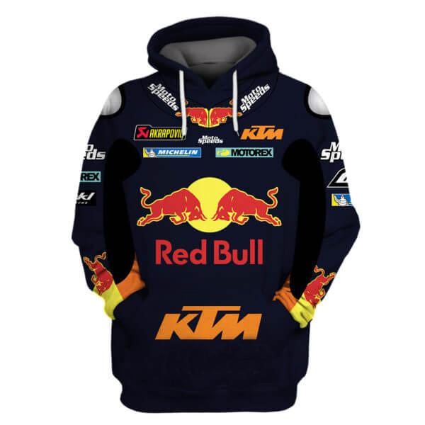 ktm sportmotorcycle ag red bull all over printed hoodie
