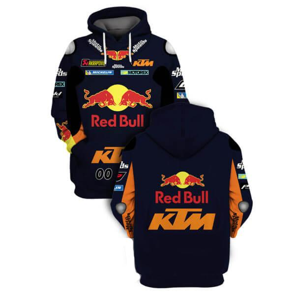 ktm sportmotorcycle ag red bull all over printed shirt 2