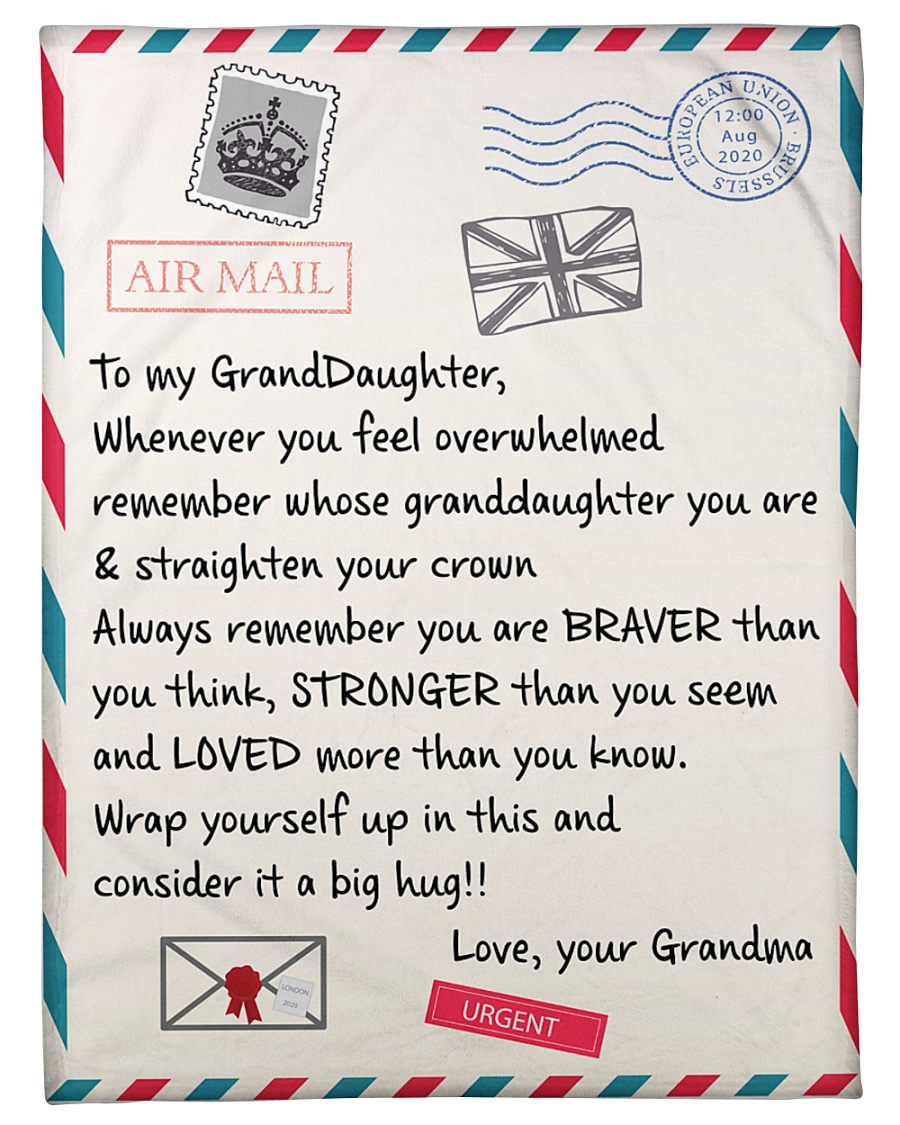 letter to my granddaughter love your grandma blanket 1 - Copy