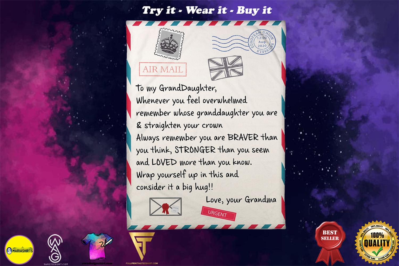 letter to my granddaughter love your grandma blanket - Copy