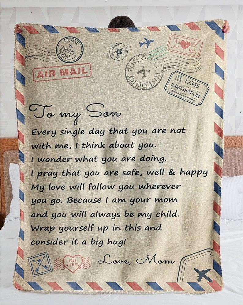 letter to my son love mom full printing blanket 1 - Copy