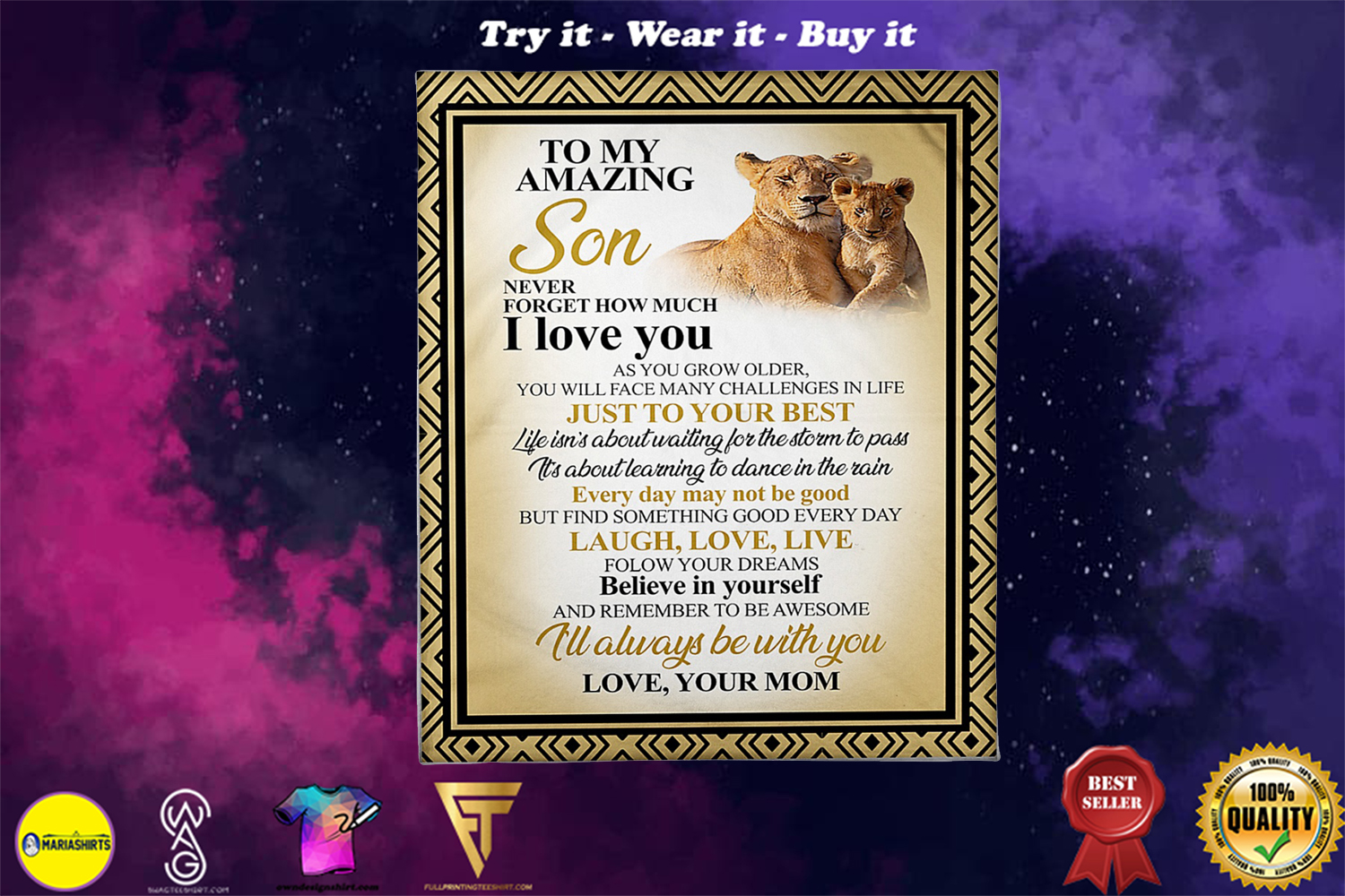 lion to my amazing son never forget how much i love you blanket - Copy