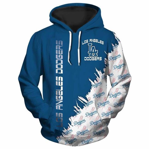 mlb los angeles dodgers all over printed hoodie