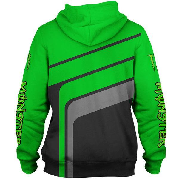 monster energy green full printing shirt 2