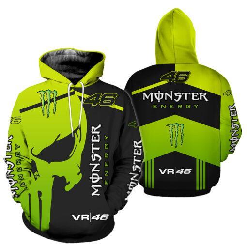monster energy sky racing team vr46 all over printed hoodie