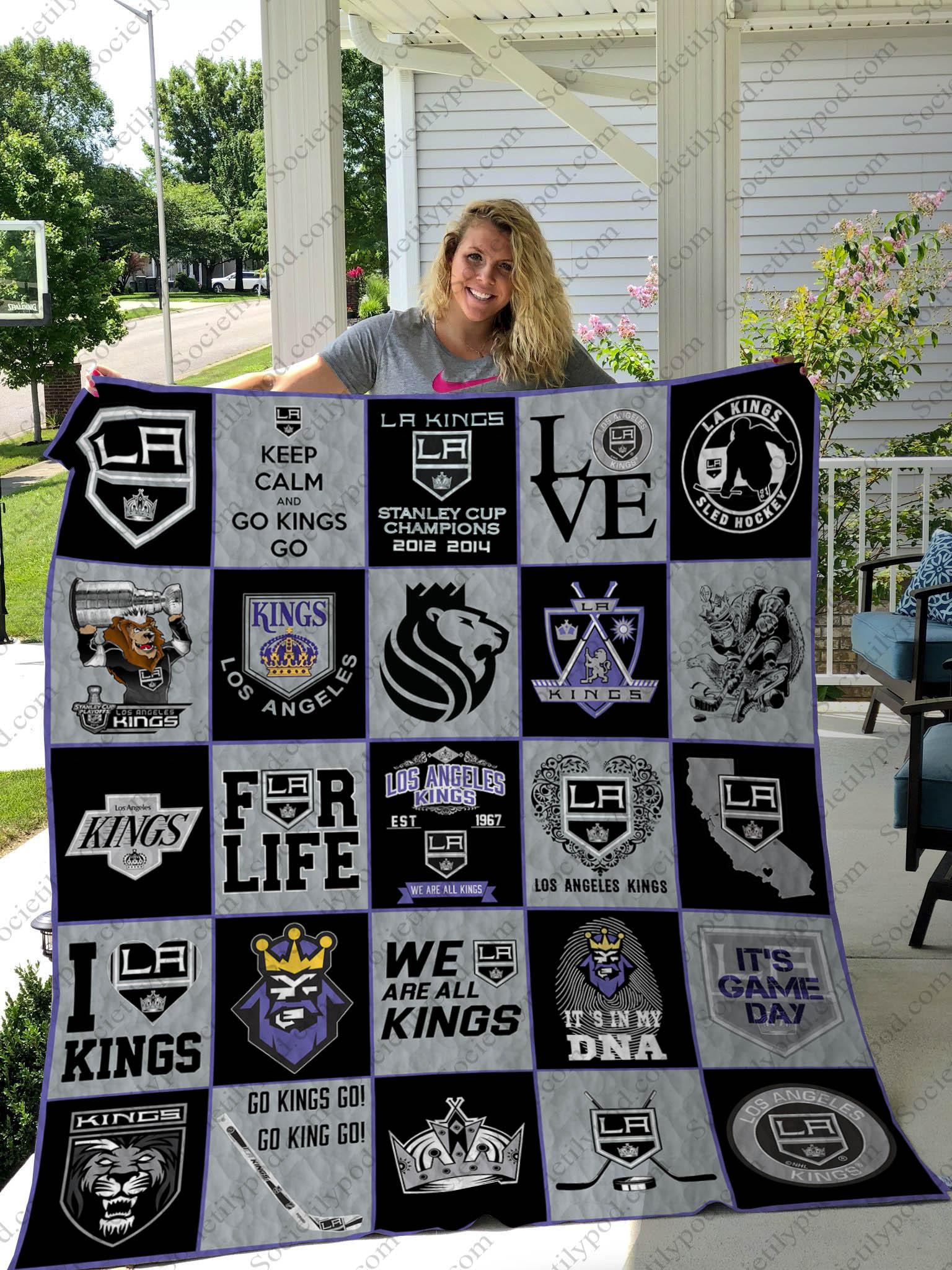 nhl los angeles kings full printing quilt 1 - Copy