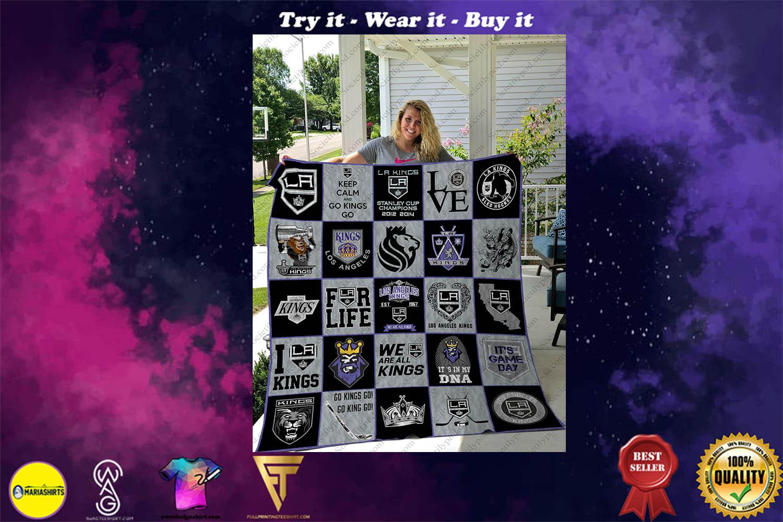 nhl los angeles kings full printing quilt - Copy (2)