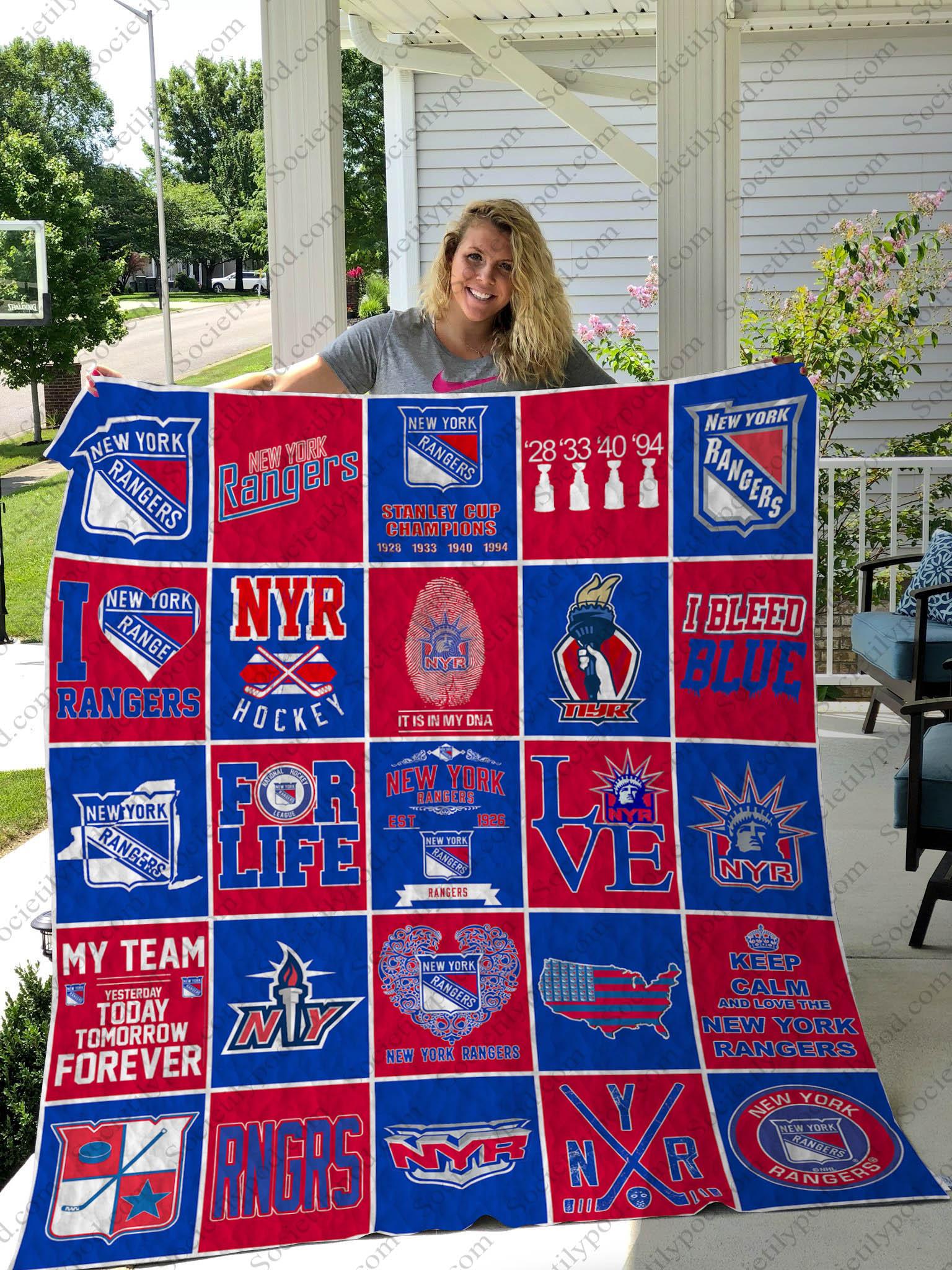 nhl new york rangers full printing quilt 1