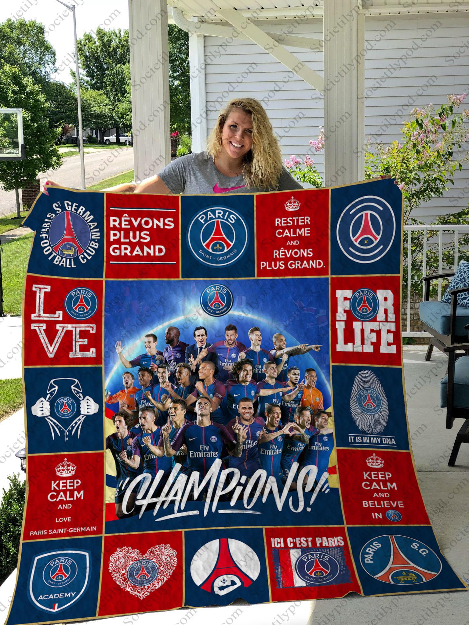 paris saint-germain football club full printing quilt 1