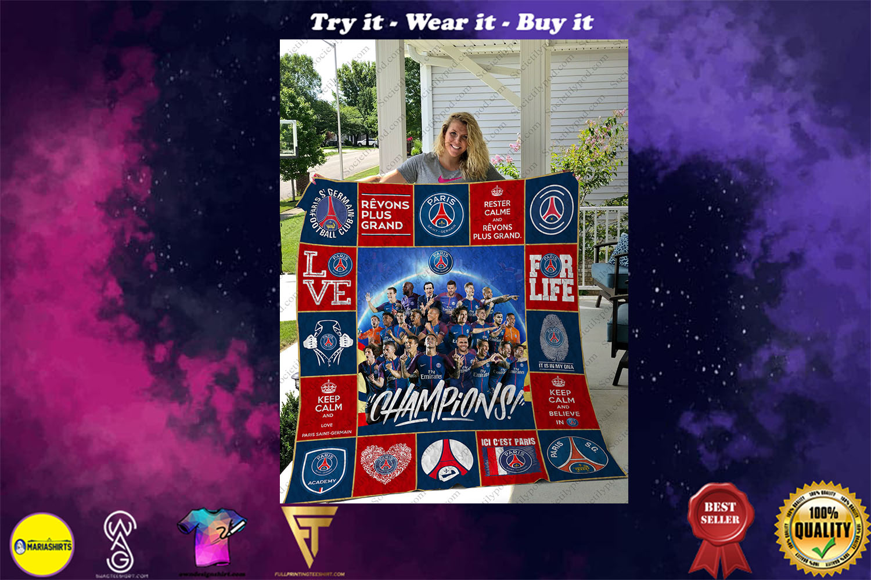 paris saint-germain football club full printing quilt - Copy