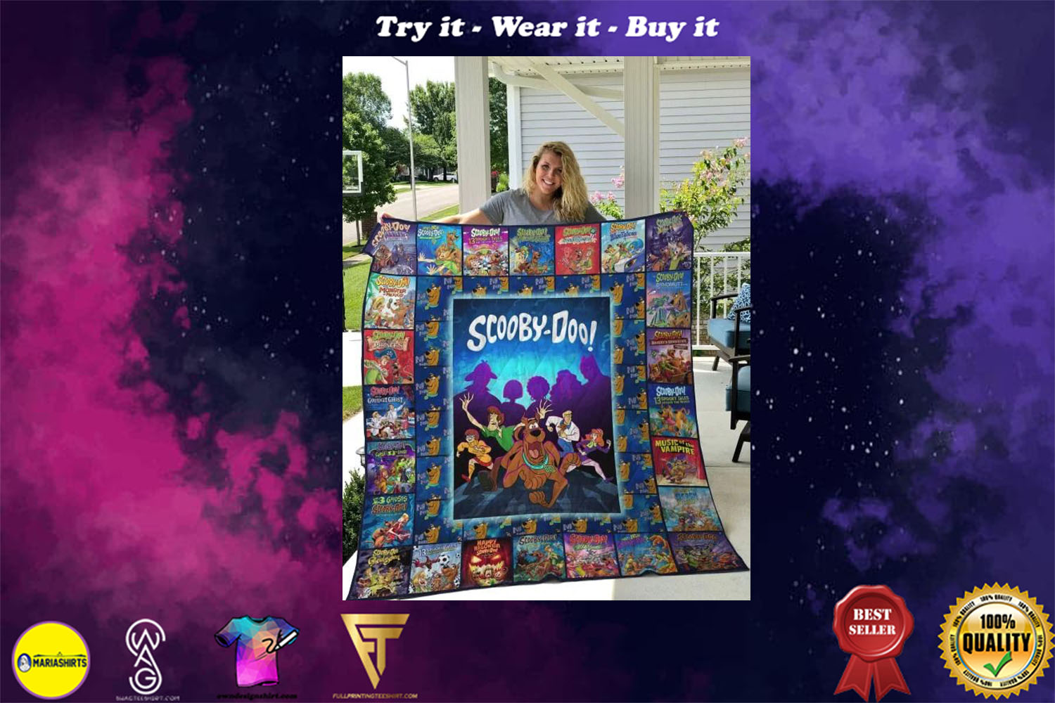 scooby-doo movie full printing quilt - Copy