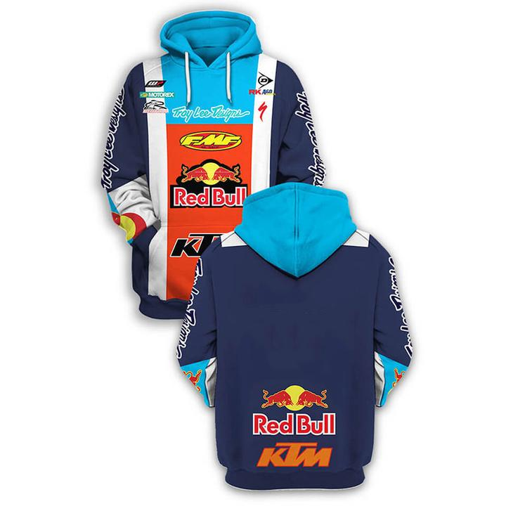 KTM red bull troy lee designs full printing shirt 1