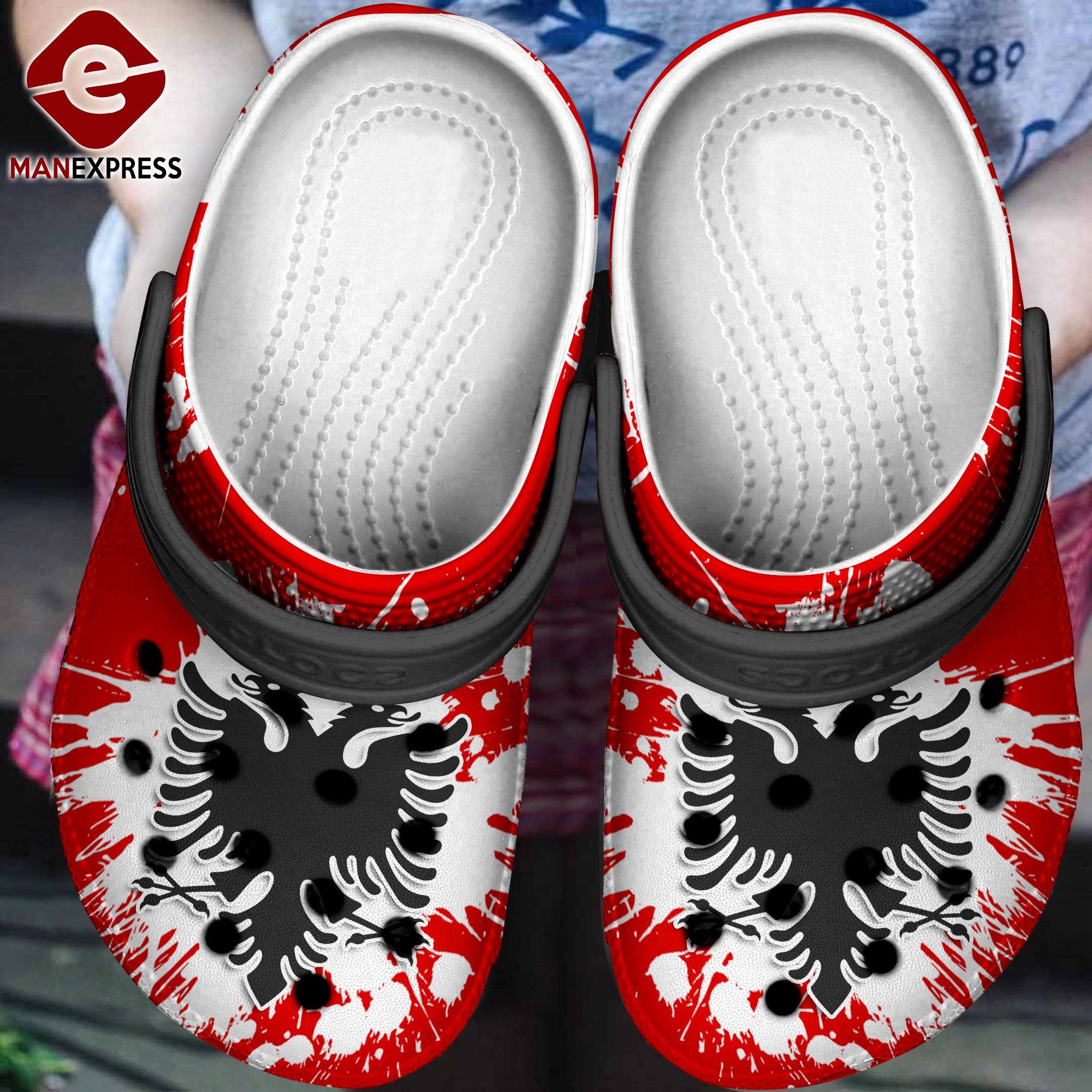 albania flag crocs 1