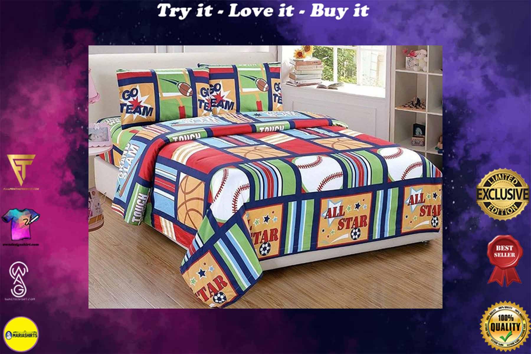 all star baseball bedding set