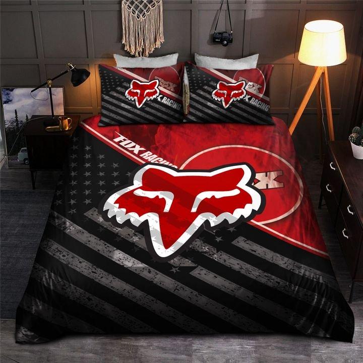 american flag fox racing bedding set 3