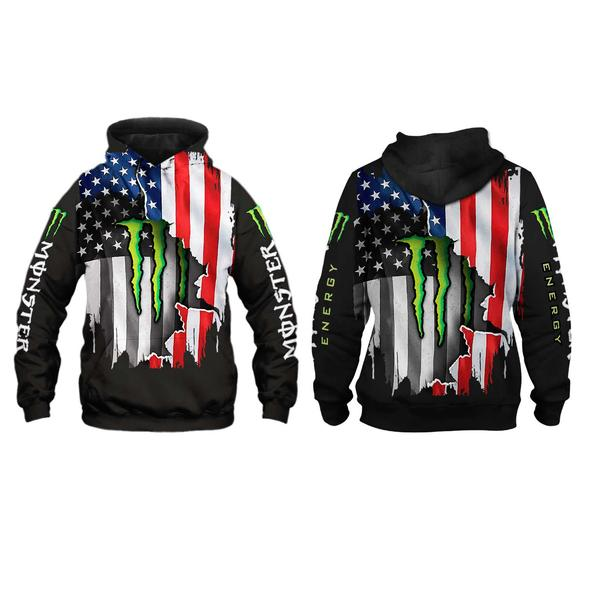 american flag monster energy team motocross full printing hoodie