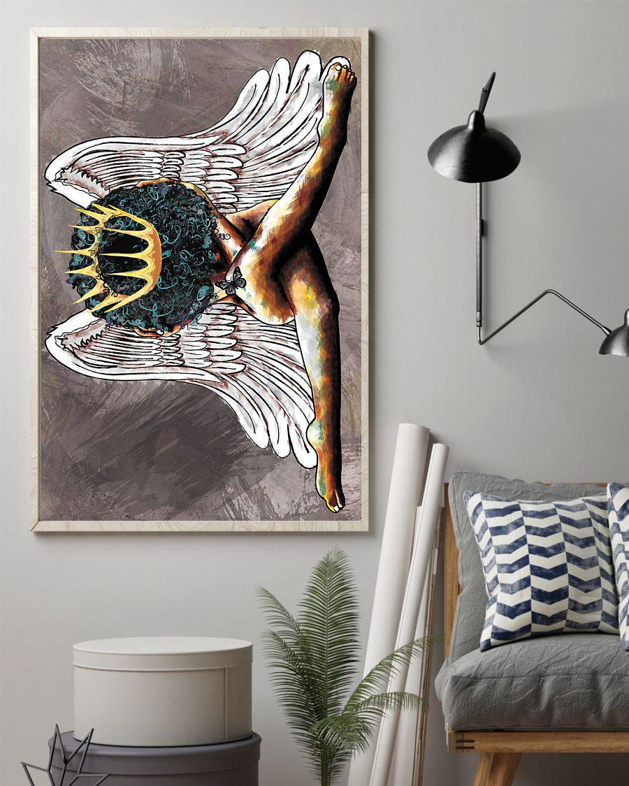 angel black queen watercolor poster 2