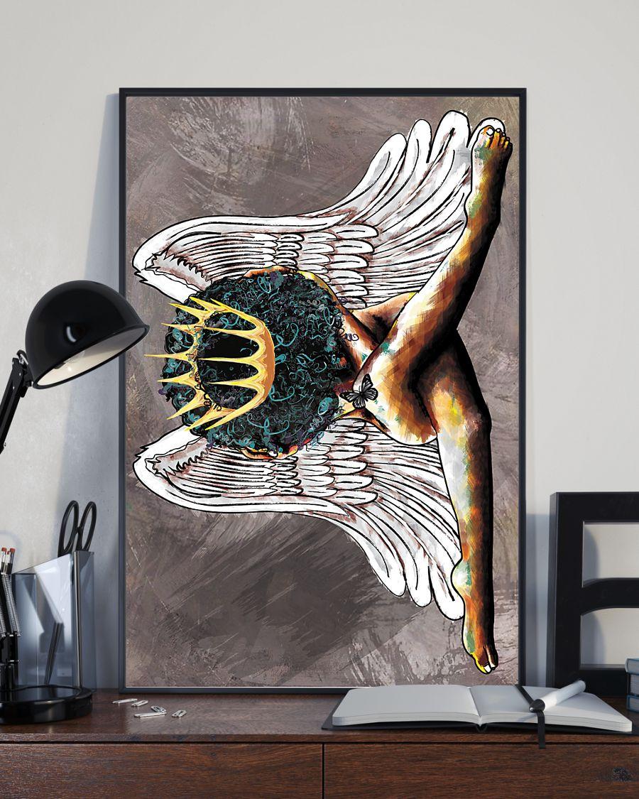 angel black queen watercolor poster 3