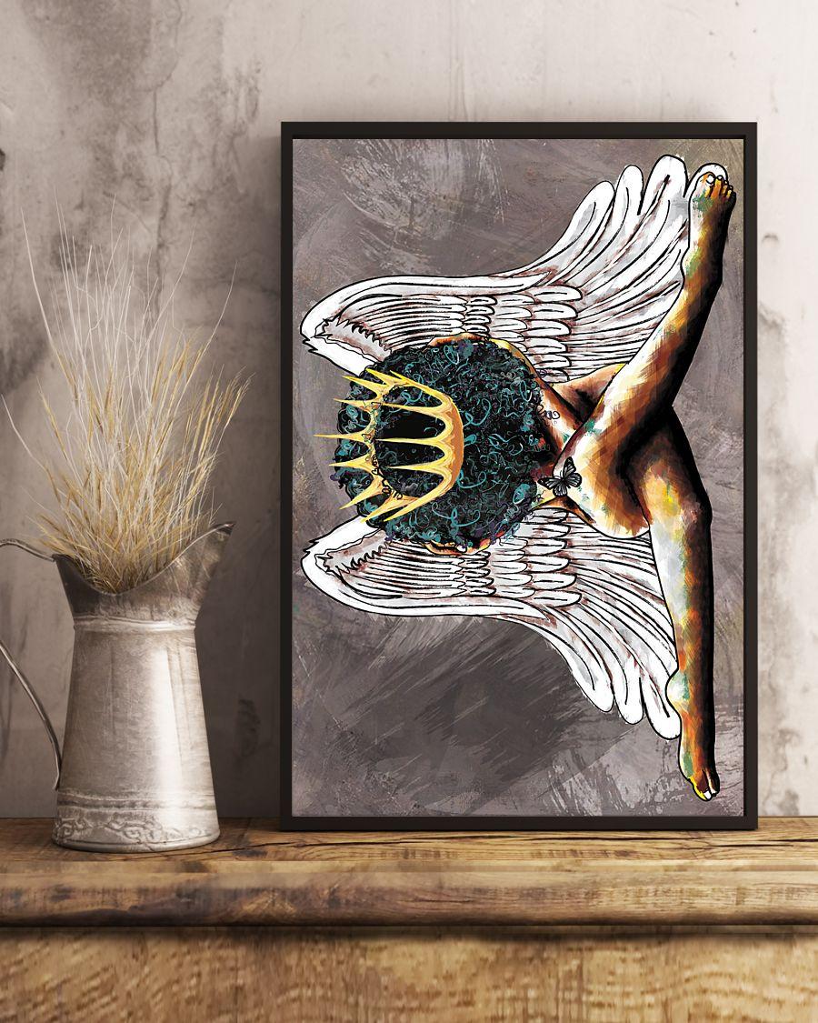 angel black queen watercolor poster 4