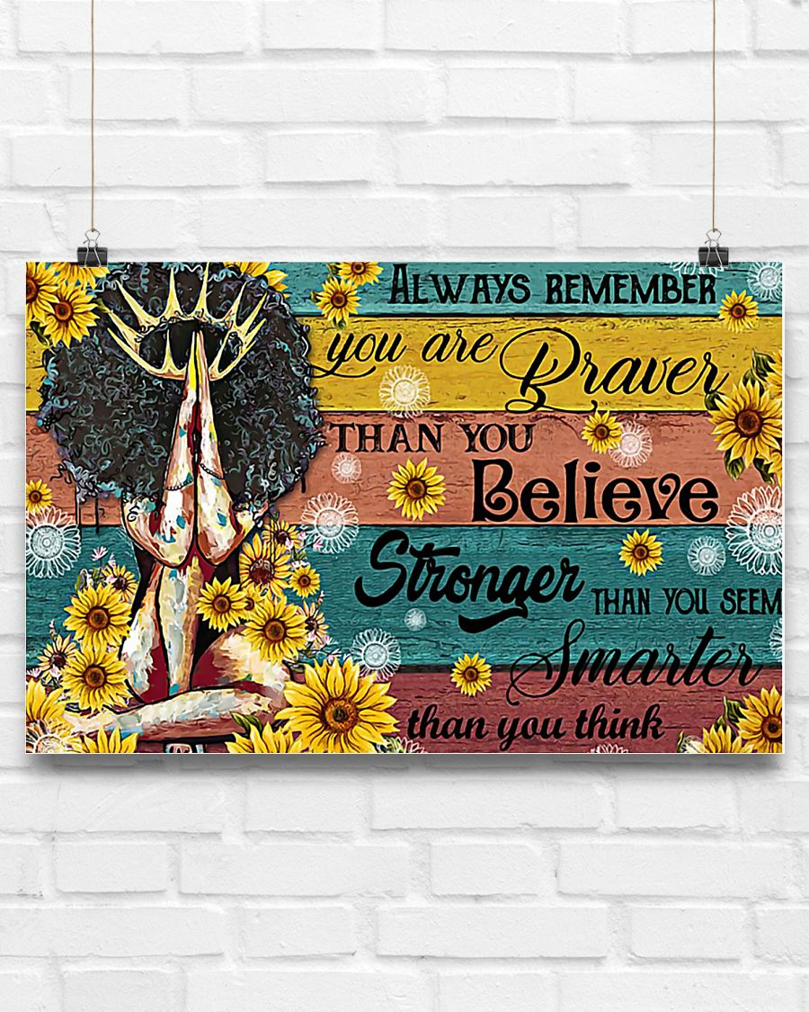 black queen always remember you are braver than you believe poster 3