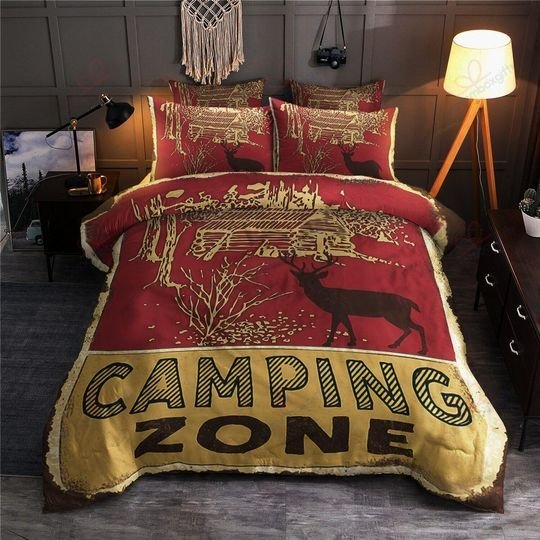camping zone love camping bedding set 4