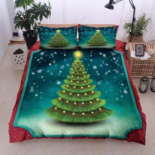 christmas tree bedding set 2