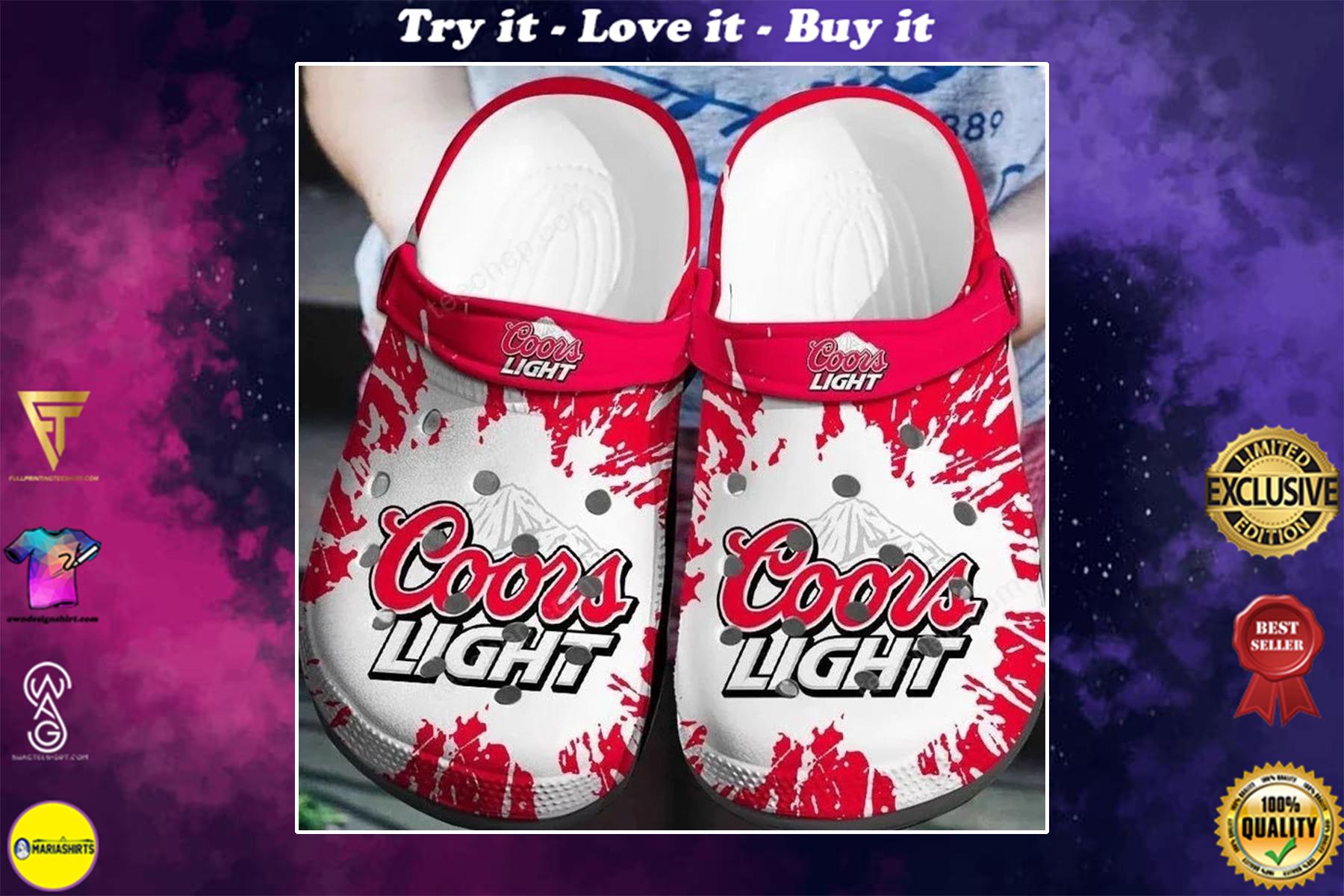 coors light beer crocs - Copy