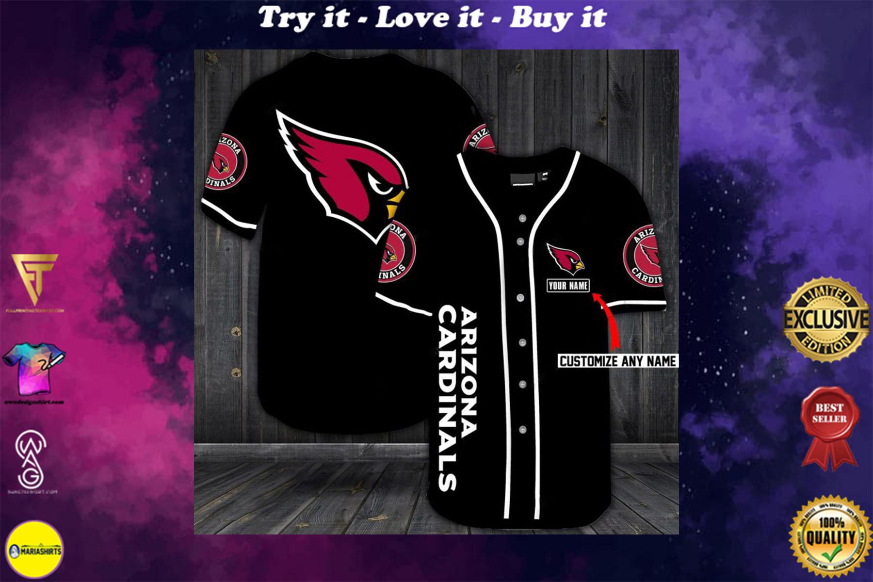 custom name jersey arizona cardinals shirt