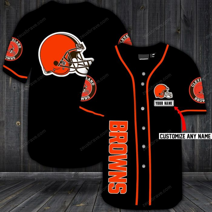 custom name jersey cleveland browns shirt 1