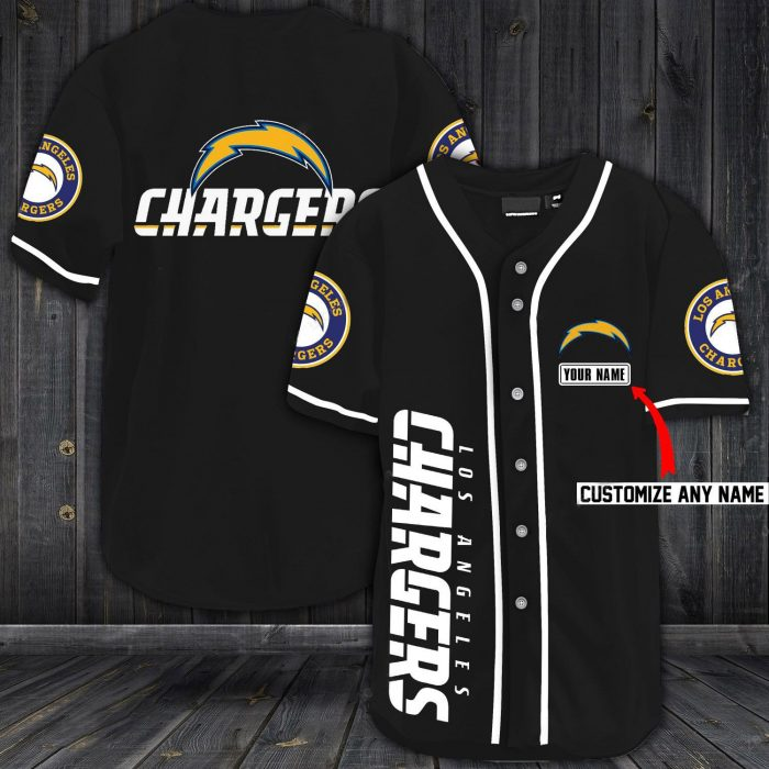 custom name jersey los angeles chargers shirt 1