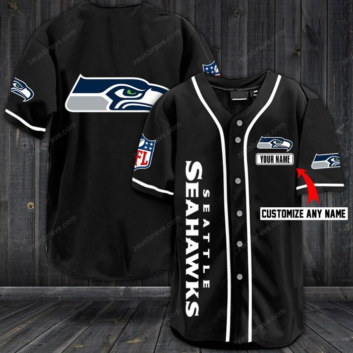 custom name jersey seattle seahawks shirt 1