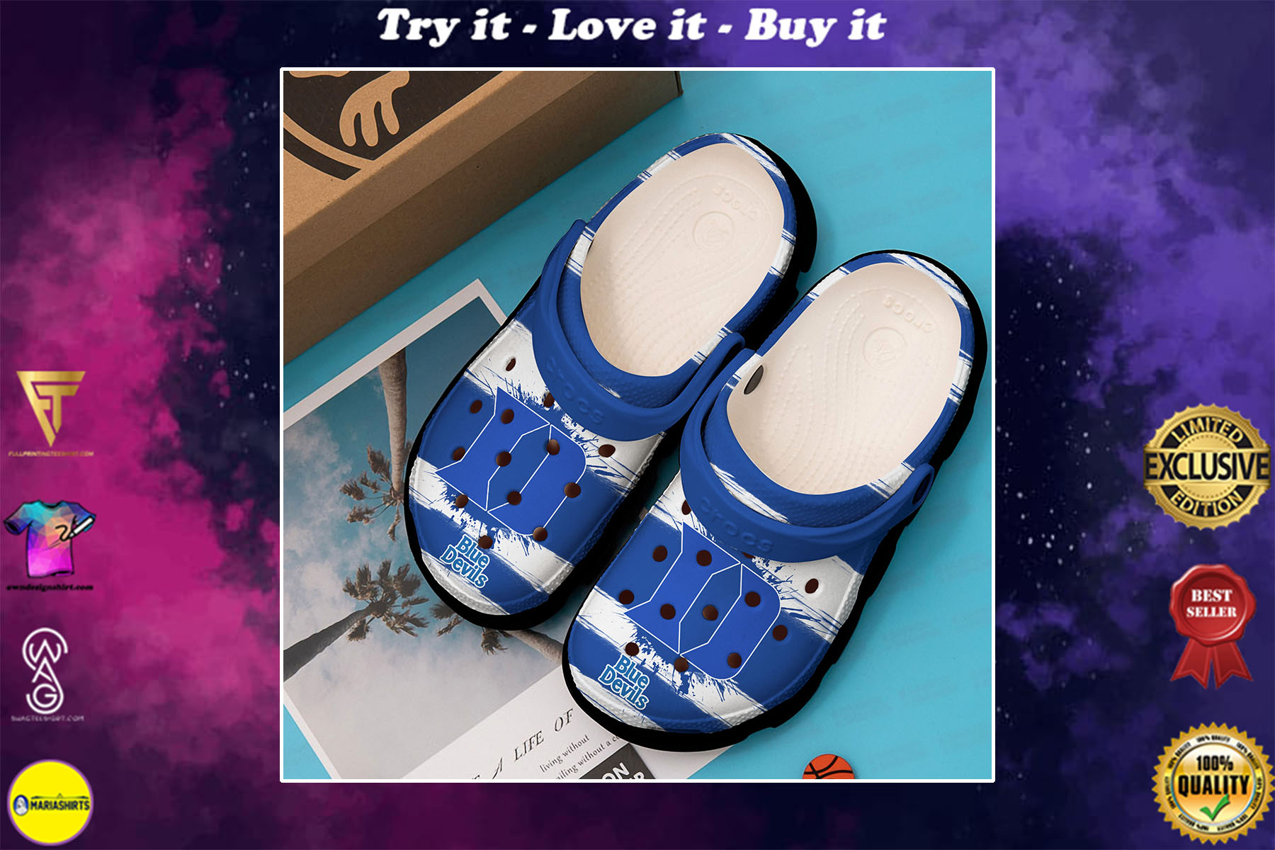 duke blue devils mens basketball crocs - Copy