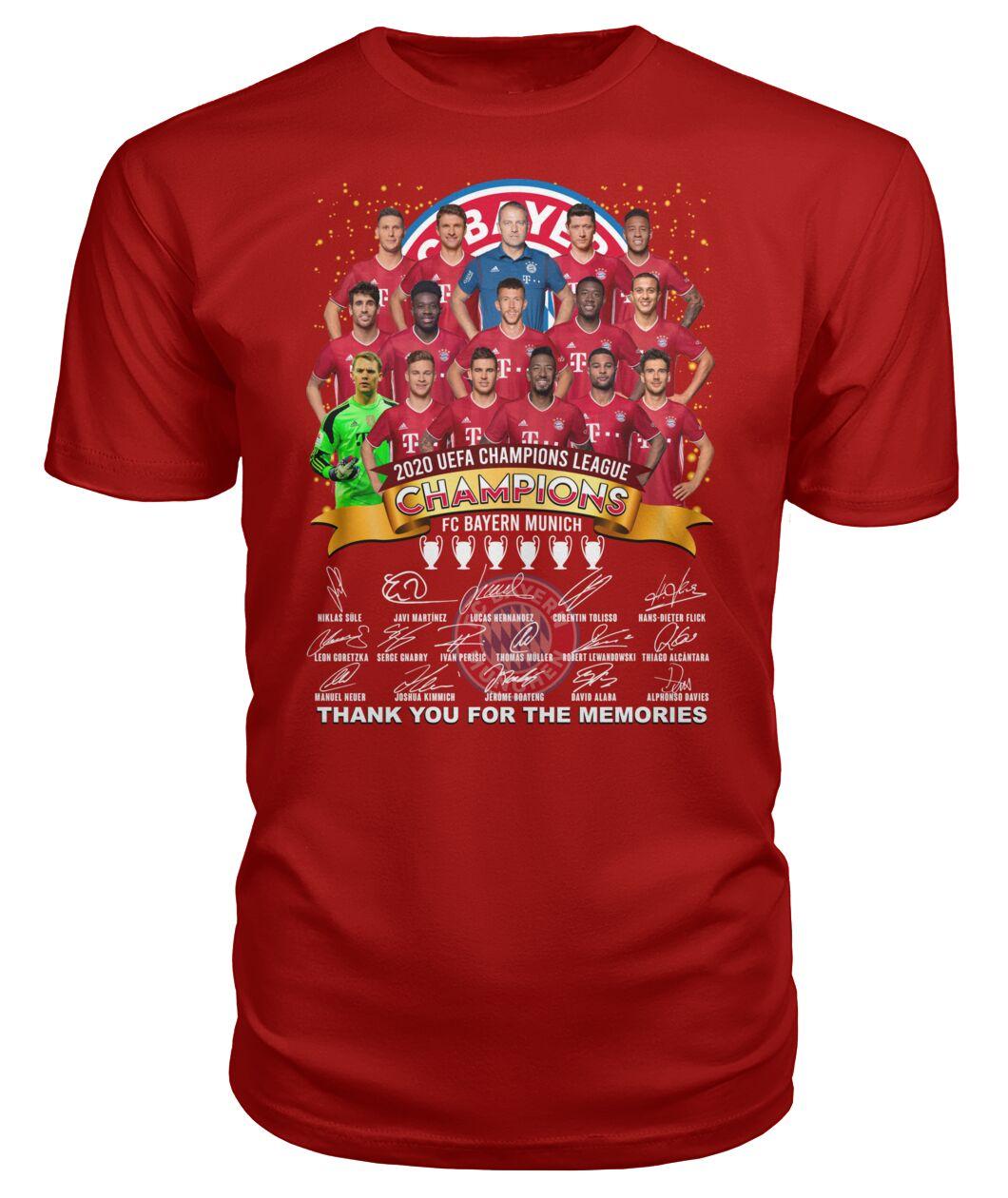 fc bayern munich 2020 uefa champions league thank you for the memories shirt 1