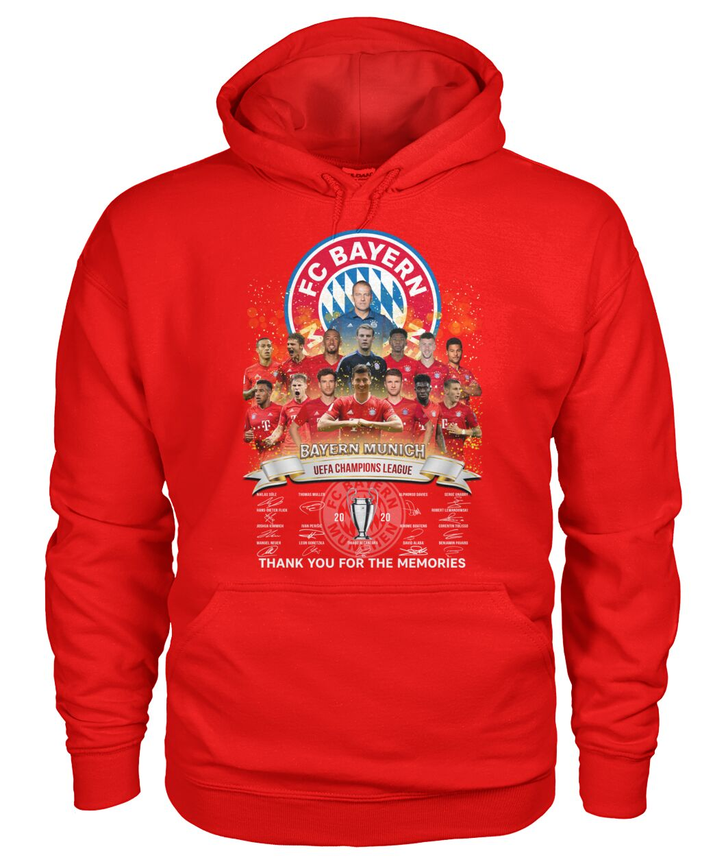 fc bayern munich 2020 uefa champions league thank you for the memories signatures hoodie