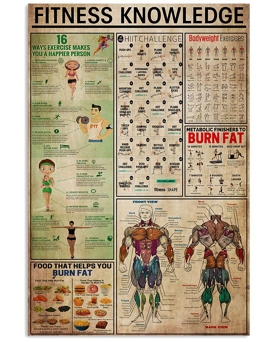 fitness knowledge retro poster 1