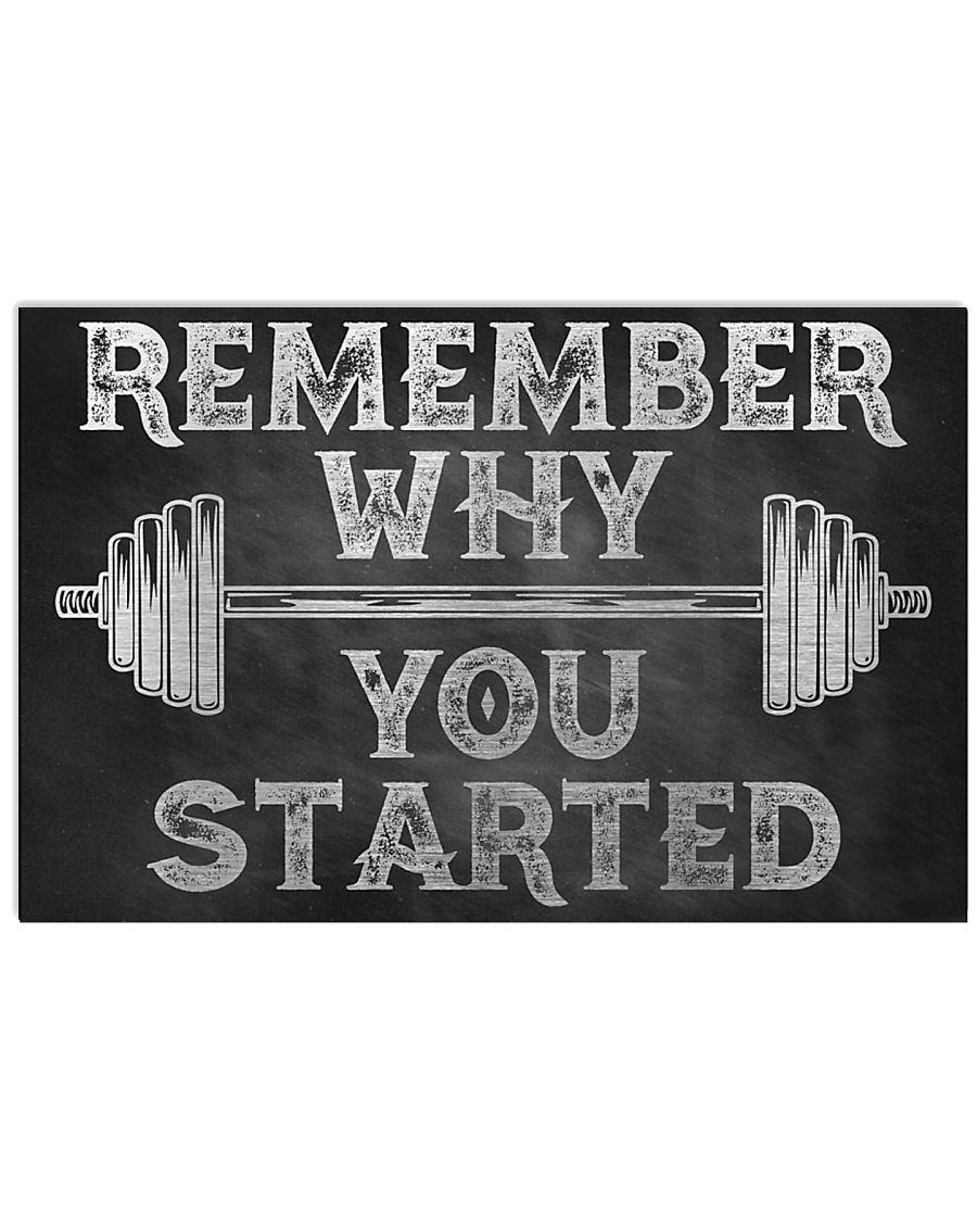 fitness remember why you started poster 1