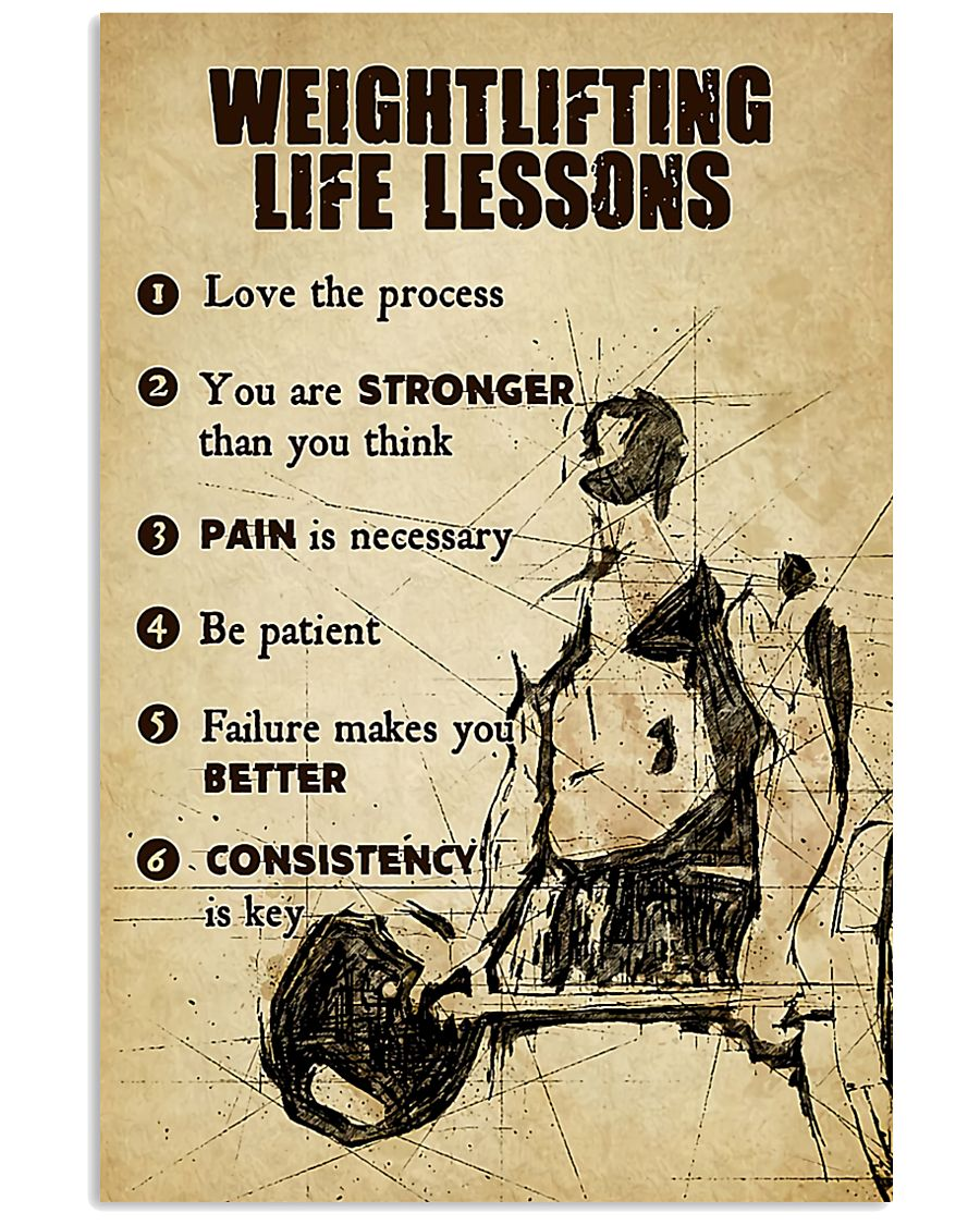 fitness weightlifting life lessons love the process poster 1