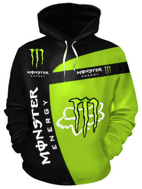 fox racing and monster energy racing sport full printing shirt 1