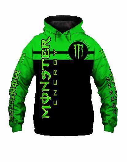 fox racing team and monster energy motocross supercross full printing hoodie