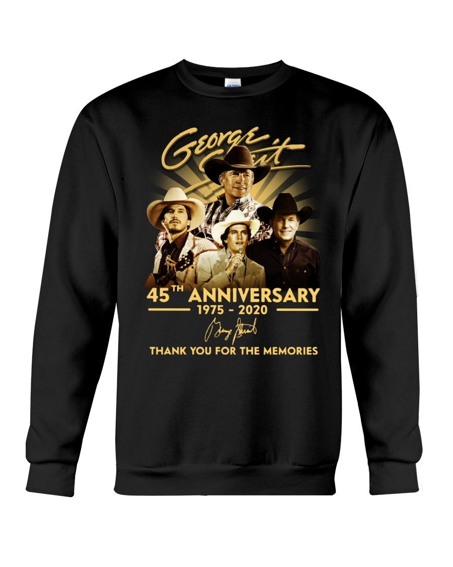 george strait 45th anniversary 1975-2020 thank you for the memories sweatshirt