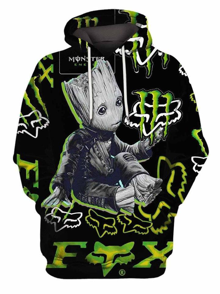 groot monster energy graphic symbol full printing hoodie