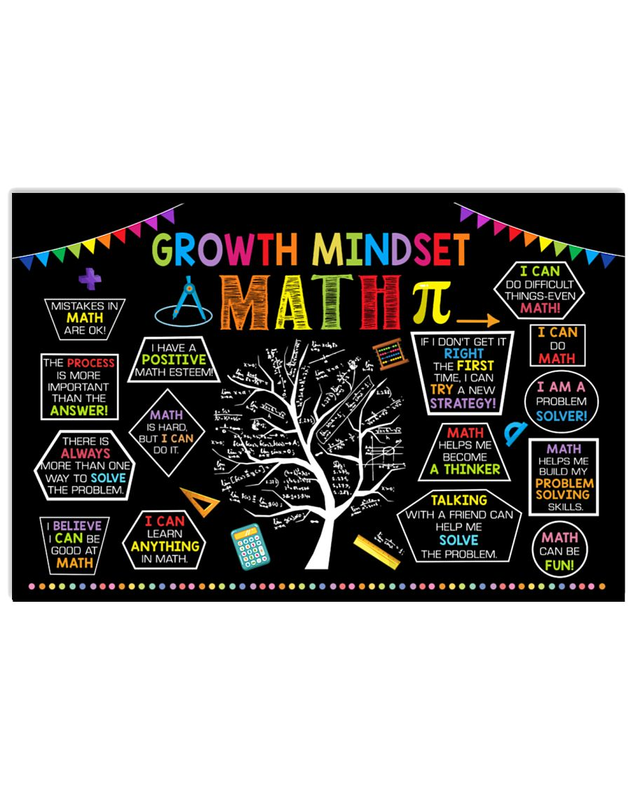 growth mindset tree math poster 1