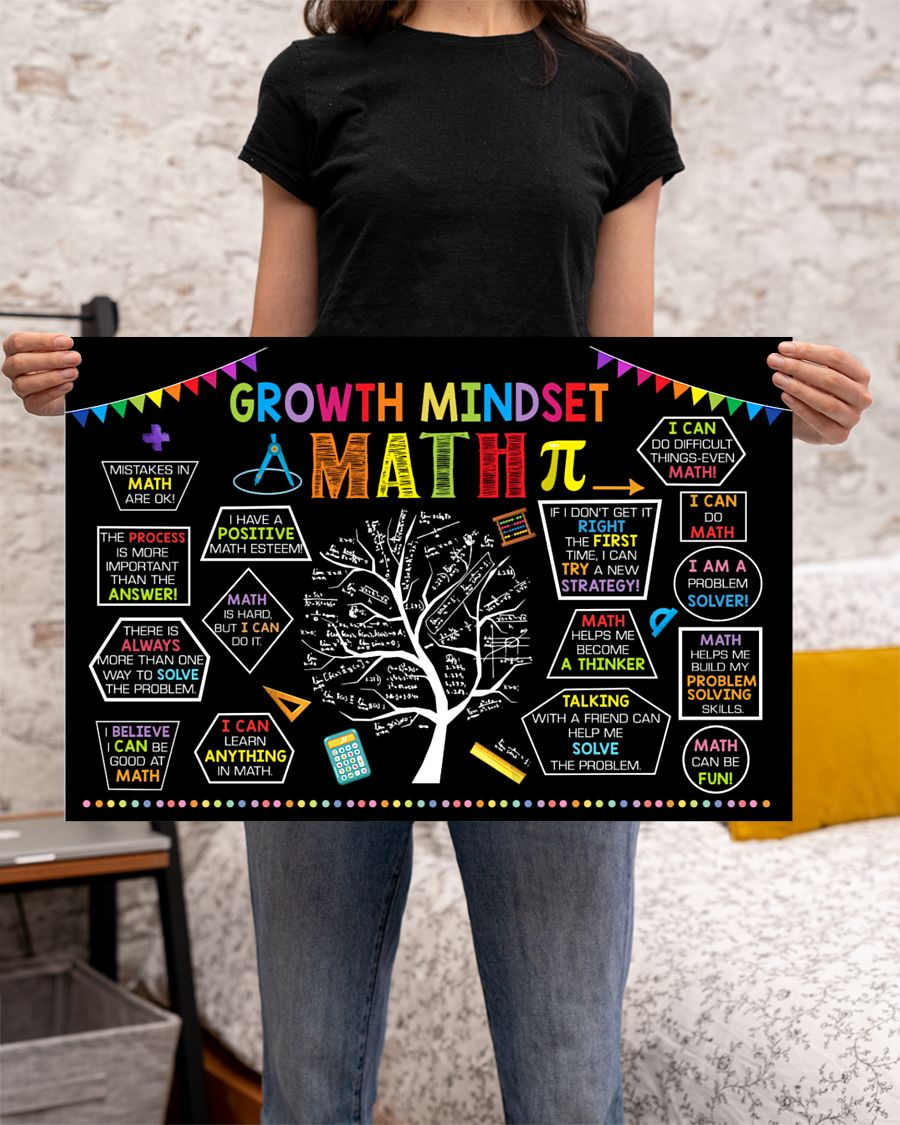 growth mindset tree math poster 2